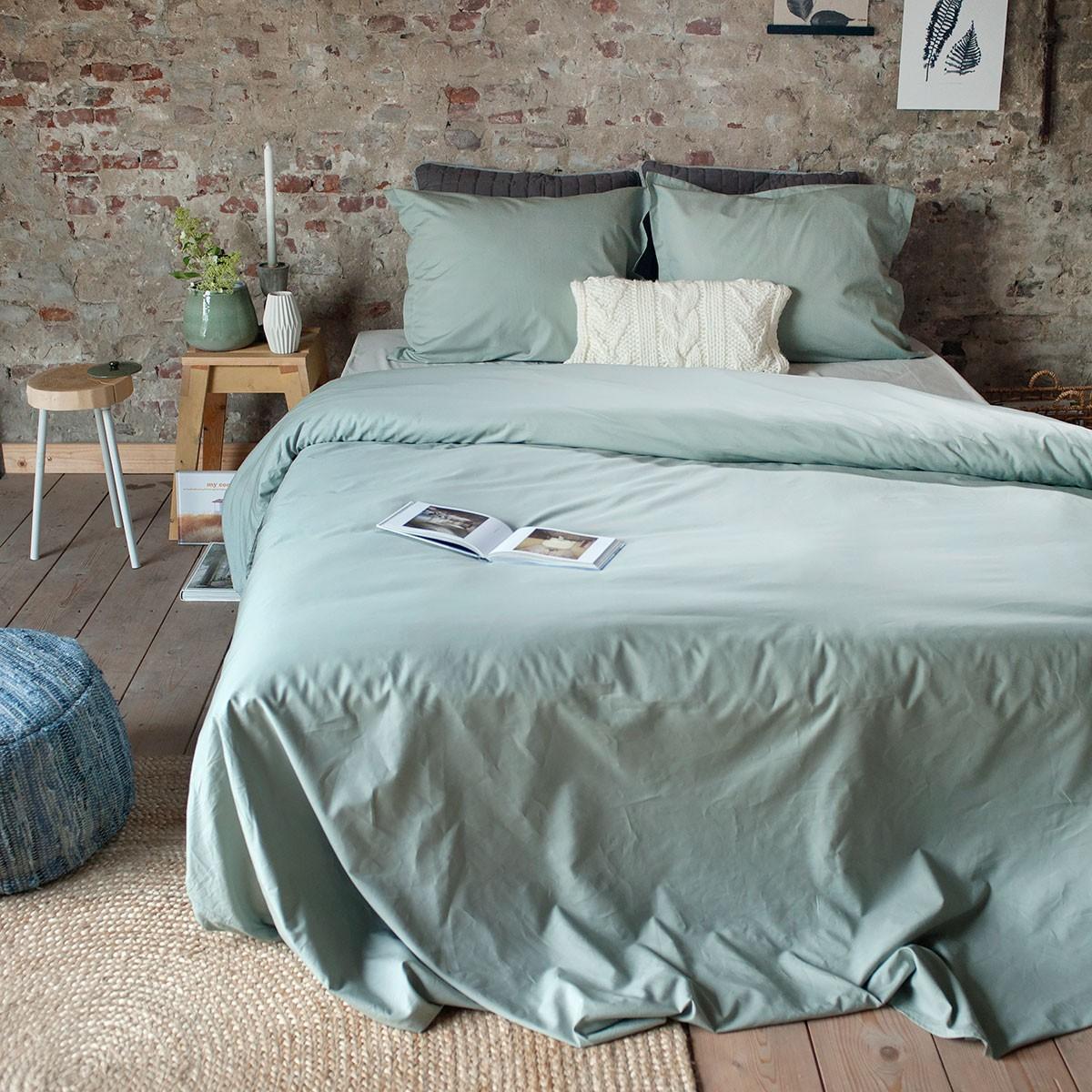 Luxe Keukentextiel : Thuis / Dommelin Dekbedovertrek Deluxe Percal 400TC Middengrijs