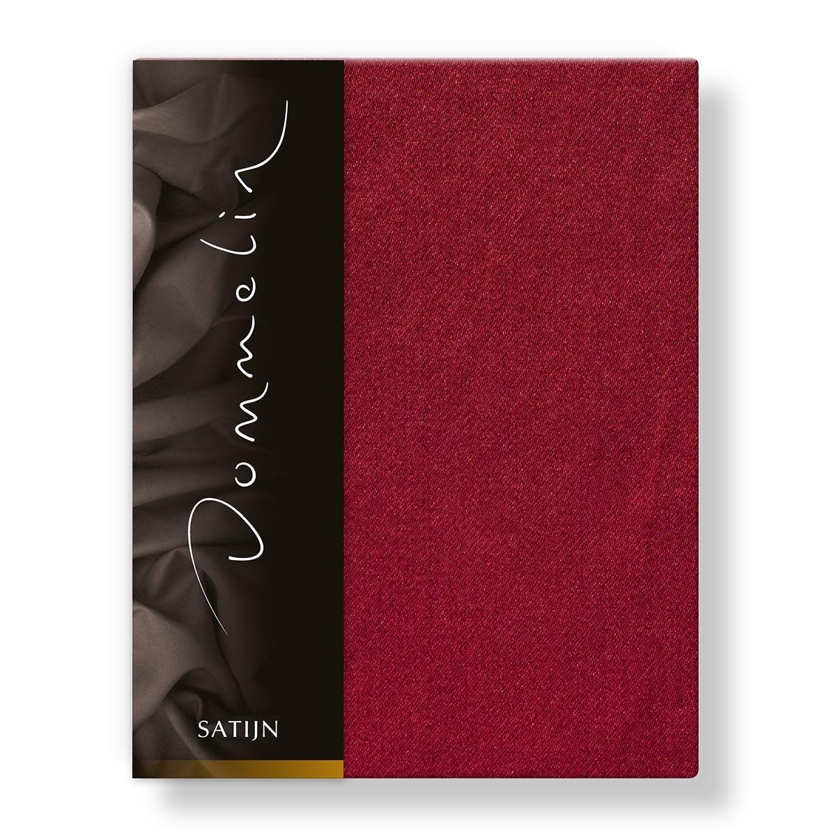 dommelin laken deluxe satijn rosso 200 x 270 cm. Black Bedroom Furniture Sets. Home Design Ideas