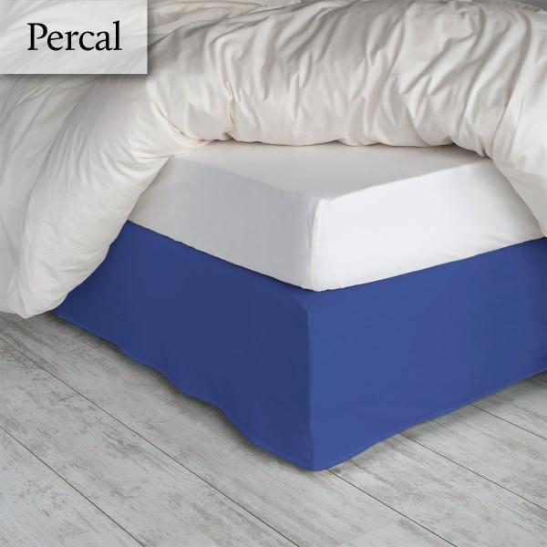Bedrok Percal Jeansblauw