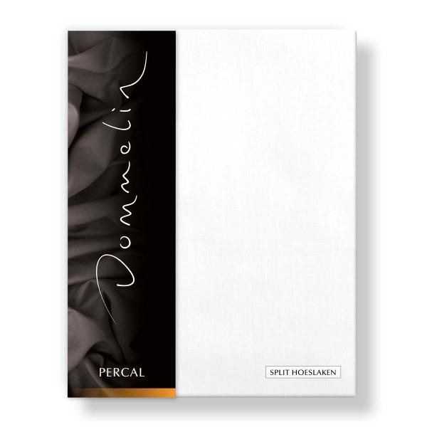 Dommelin Split Hoeslaken Deluxe Percal Wit 200 x 220 cm | split 70 cm