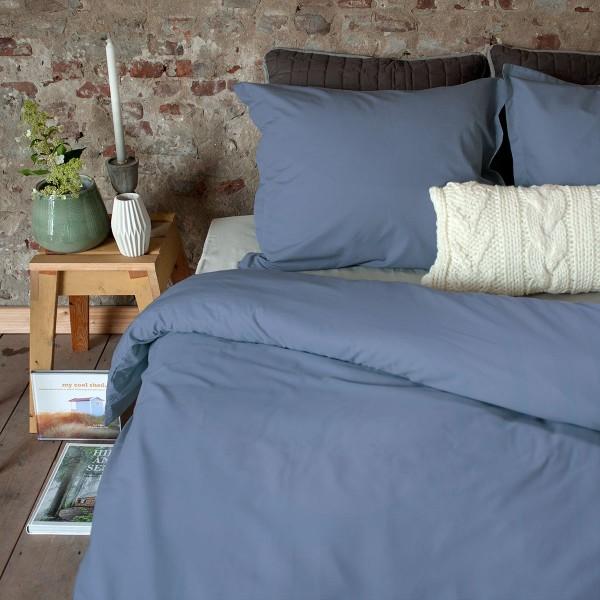 Dommelin Dekbedovertrek Percal 400TC Staalblauw lits-jumeaux