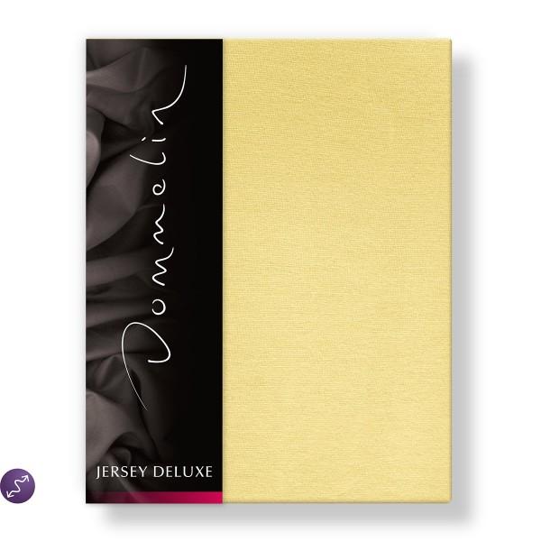 Dommelin Hoeslaken Jersey Deluxe Geel 140 x 200 cm