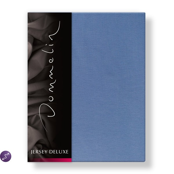 Dommelin Hoeslaken Jersey Deluxe Middenblauw 140 x 200 cm