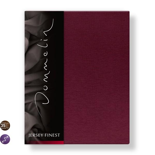 Dommelin Hoeslaken Jersey Finest Bordeaux 140 x 200 cm
