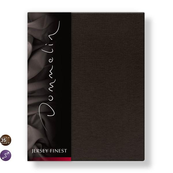 Dommelin Hoeslaken Jersey Finest Chocolade 140 x 200 cm