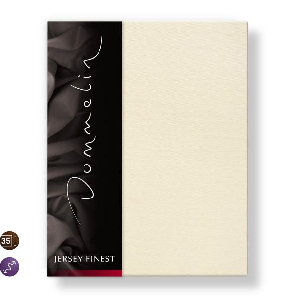 Dommelin Hoeslaken Jersey Finest Ivoor 90 x 200 cm