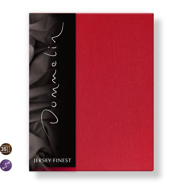 Dommelin Hoeslaken Jersey Finest Rood 180 x 200 cm