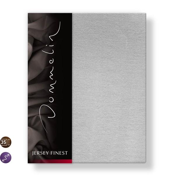 Dommelin Hoeslaken Jersey Finest Zilvergrijs 90 x 200 cm