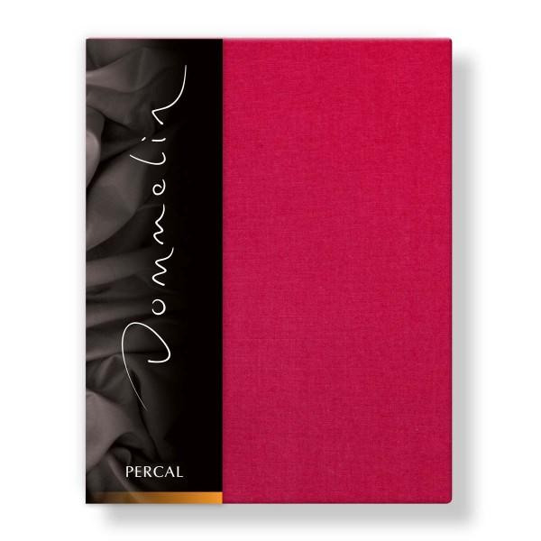 Dommelin Hoeslaken Deluxe Percal Cherry