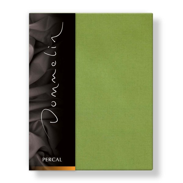 Dommelin Hoeslaken Deluxe Percal Groen