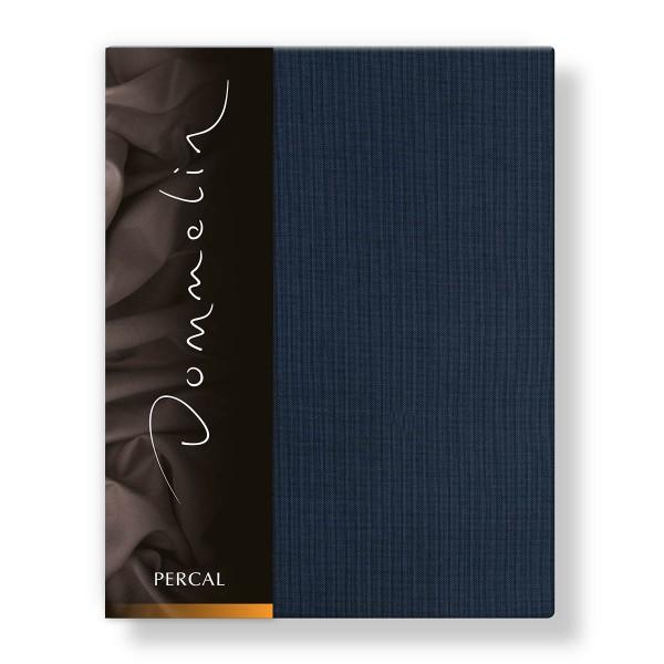Dommelin Hoeslaken Deluxe Percal Nachtblauw