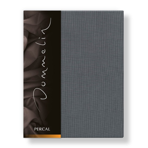 Dommelin Hoeslaken Deluxe Percal Olifantgrijs