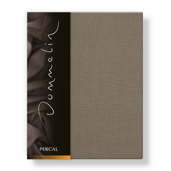 Dommelin Hoeslaken Deluxe Percal Taupe 100 x 200 cm