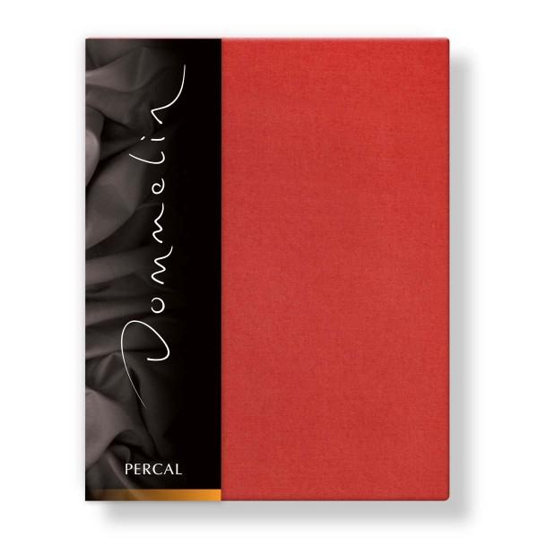 Dommelin Hoeslaken Deluxe Percal Terracotta