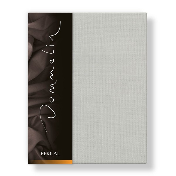 Dommelin Hoeslaken Deluxe Percal Zilver 105 x 210 cm