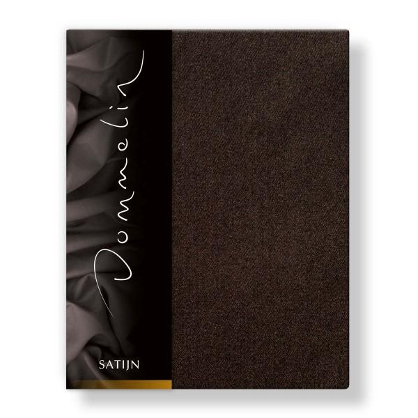 Dommelin Hoeslaken Deluxe Satijn Choco 80 x 200 cm
