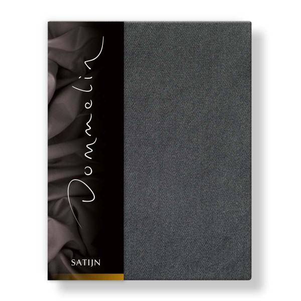 Dommelin Hoeslaken Deluxe Satijn Donkergrijs 100 x 220 cm