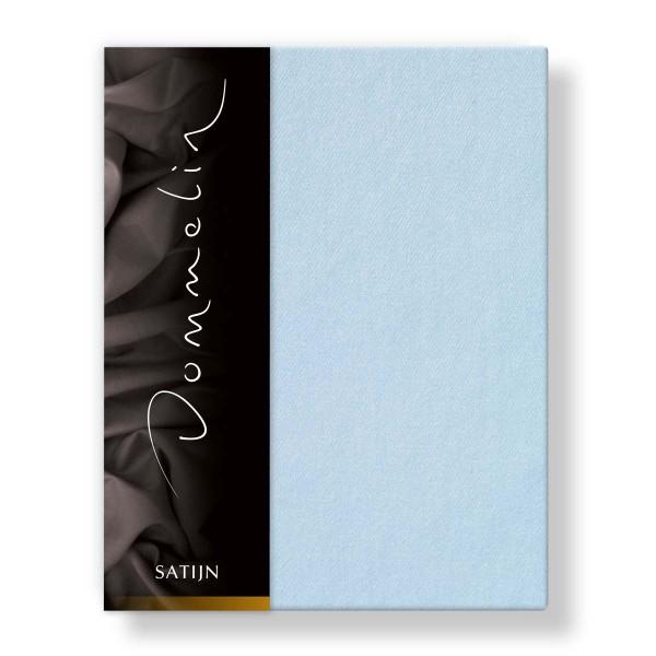Dommelin Hoeslaken Deluxe Satijn Lichtblauw 100 x 200 cm