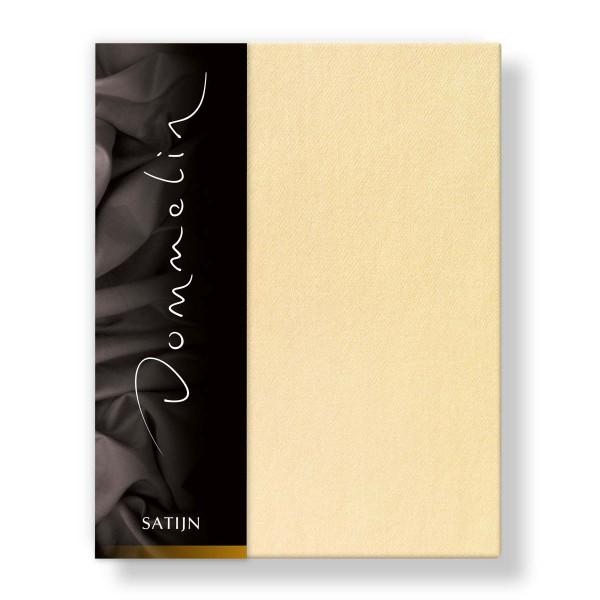Dommelin Hoeslaken Deluxe Satijn Lichtgeel 210 x 220 cm