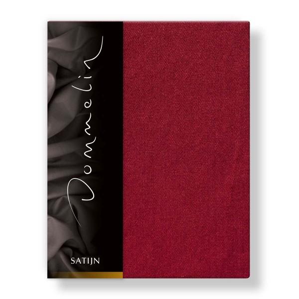 Dommelin Hoeslaken Deluxe Satijn Rosso 210 x 220 cm
