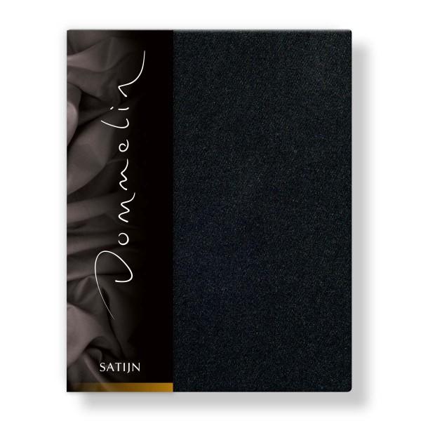 Dommelin Hoeslaken Deluxe Satijn Zwart 180 x 210 cm