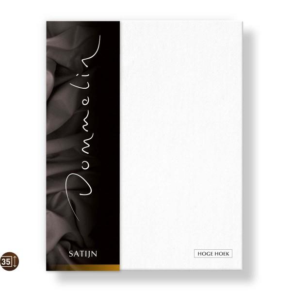 Dommelin Hoeslaken Hoge Hoek Deluxe Satijn wit 200 x 220 cm