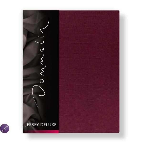Dommelin Hoeslaken Jersey Deluxe Bordeaux 140 x 200 cm