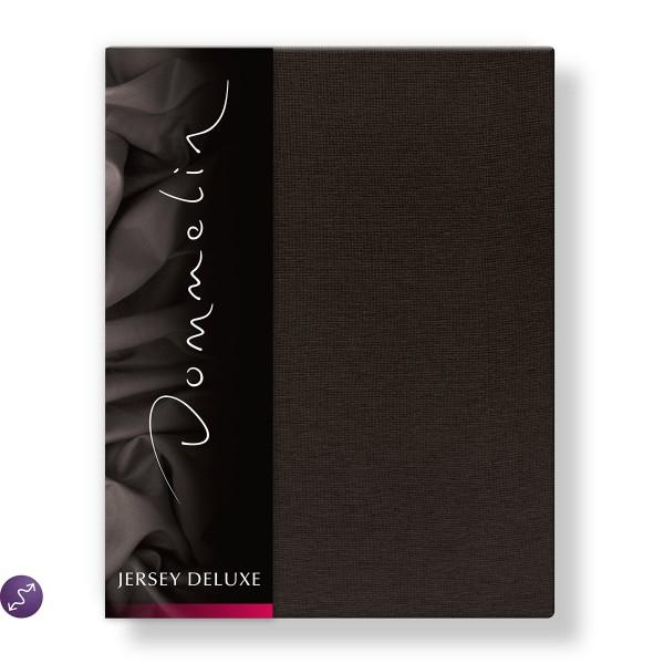 Dommelin Hoeslaken Jersey Deluxe Chocolade 180 x 200 cm