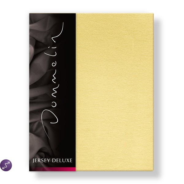Dommelin Hoeslaken Jersey Deluxe Geel 90 x 200 cm