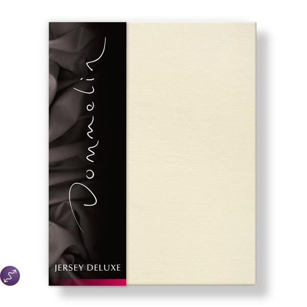Dommelin Hoeslaken Jersey Deluxe Ivoor 120 x 200 cm