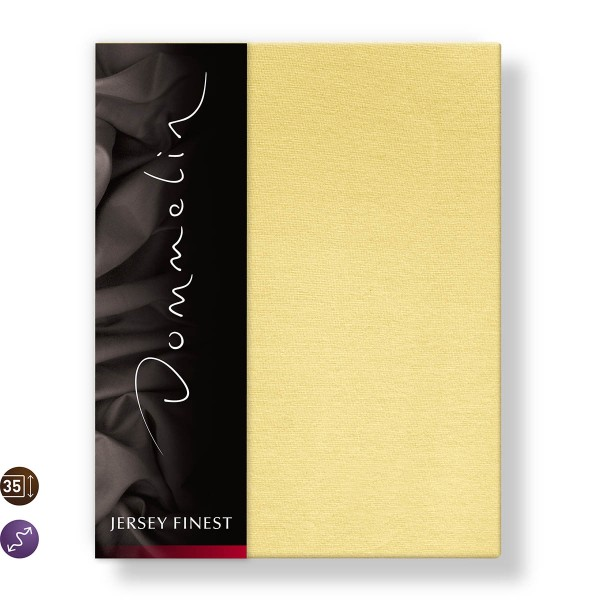 Dommelin Hoeslaken Jersey Finest Geel 140 x 200 cm