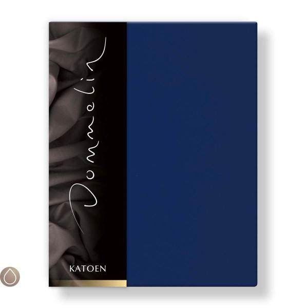 Dommelin Hoeslaken Katoen Donkerblauw 80 x 190 cm