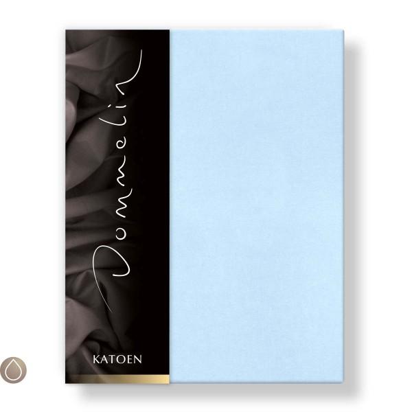 Dommelin Hoeslaken Katoen Lichtblauw 180 x 210 cm