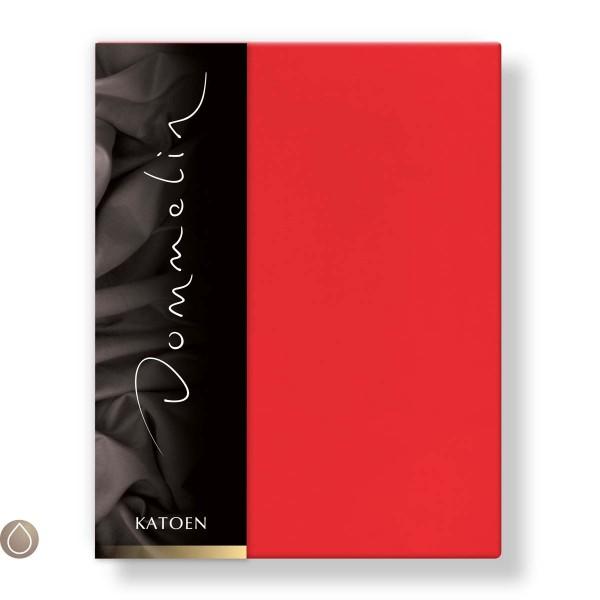 Dommelin Hoeslaken Katoen Rood 80 x 190 cm