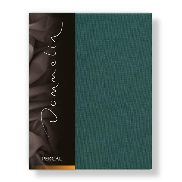 Dommelin Hoeslaken Deluxe Percal Antiekgroen 180 x 200 cm