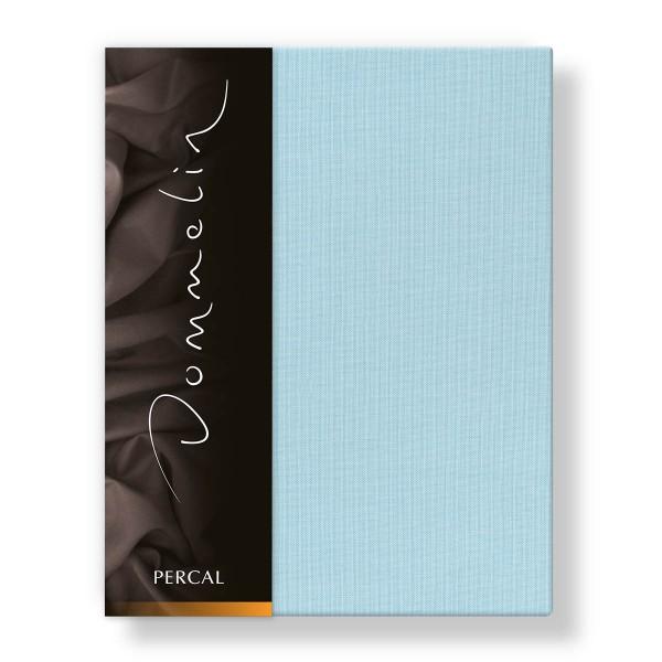 Dommelin Hoeslaken Deluxe Percal Pastelblauw 140 x 200 cm