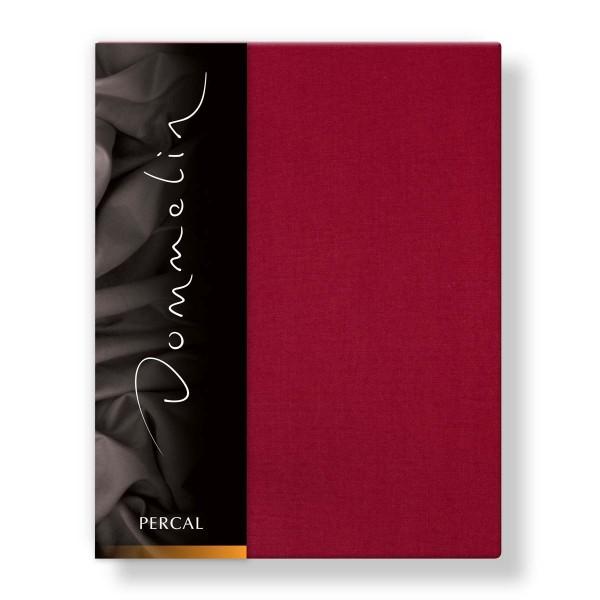 Dommelin Hoeslaken Deluxe Percal Rosso