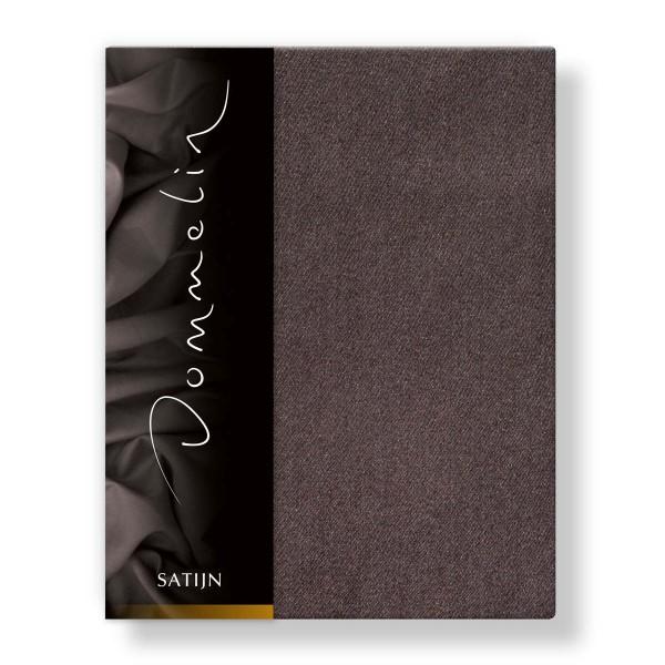 Dommelin Hoeslaken Deluxe Satijn Bruin 80 x 210 cm