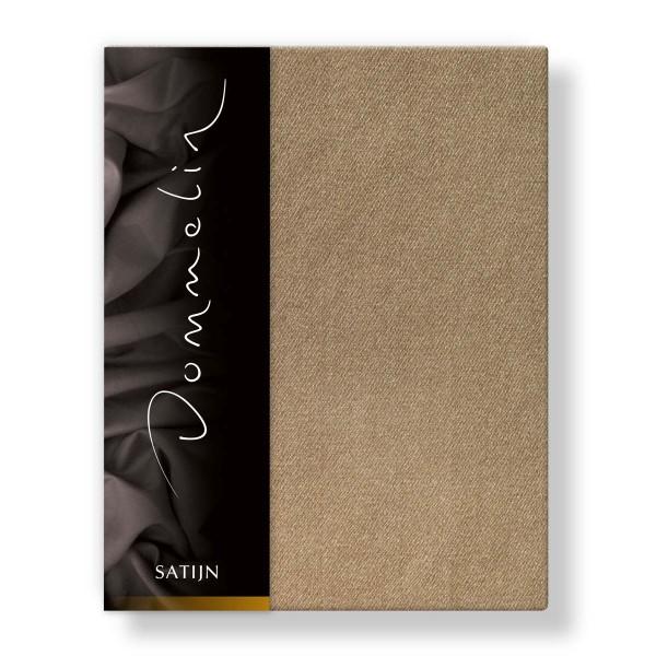 Dommelin Hoeslaken Deluxe Satijn Cappucino 100 x 220 cm