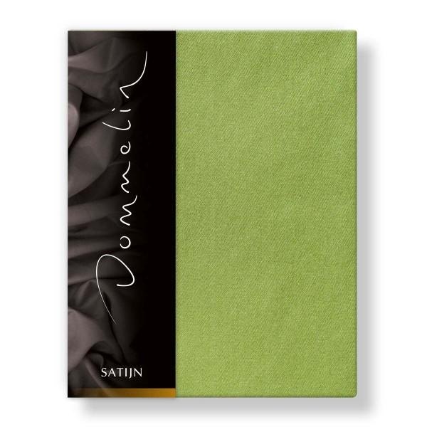 Dommelin Hoeslaken Deluxe Satijn Groen 100 x 220 cm