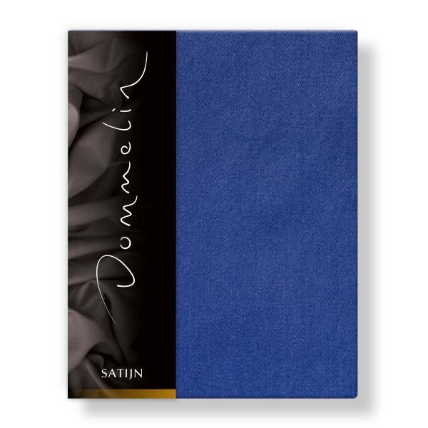 Dommelin Hoeslaken Deluxe Satijn Jeansblauw 200 x 220 cm