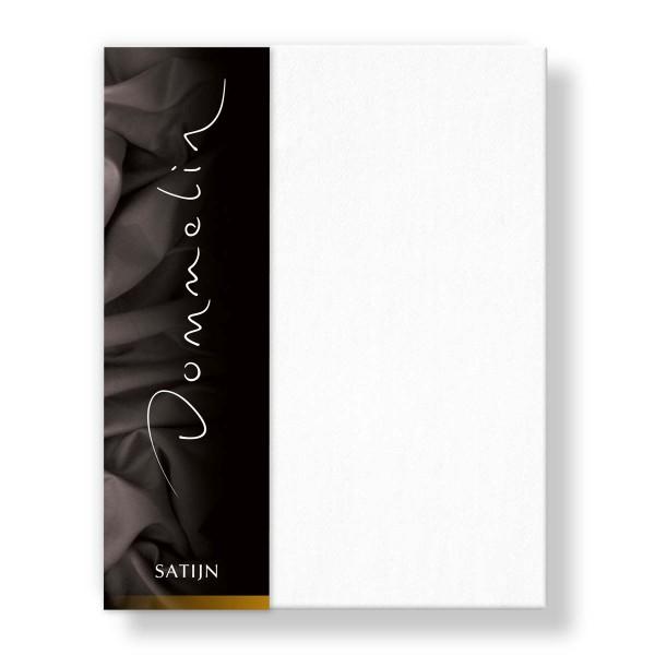 Dommelin Hoeslaken Deluxe Satijn Wit 200 x 210 cm