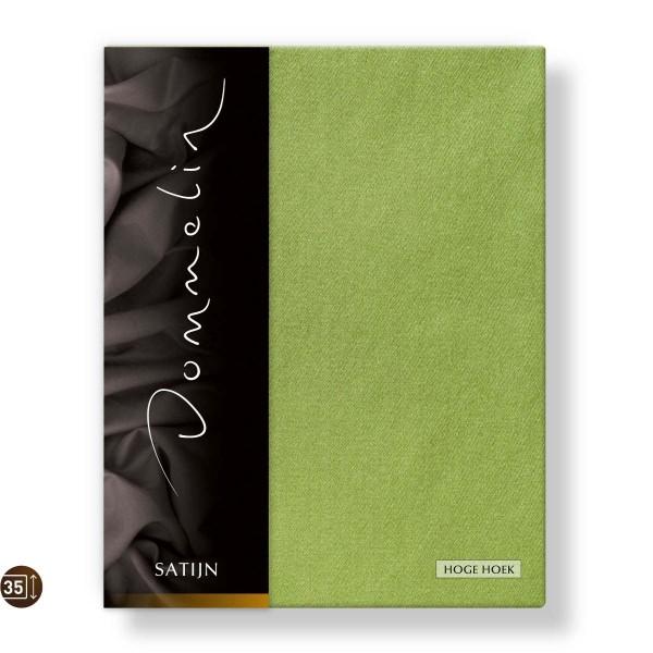 Dommelin Hoeslaken Hoge Hoek Deluxe Satijn Groen 100 x 210 cm