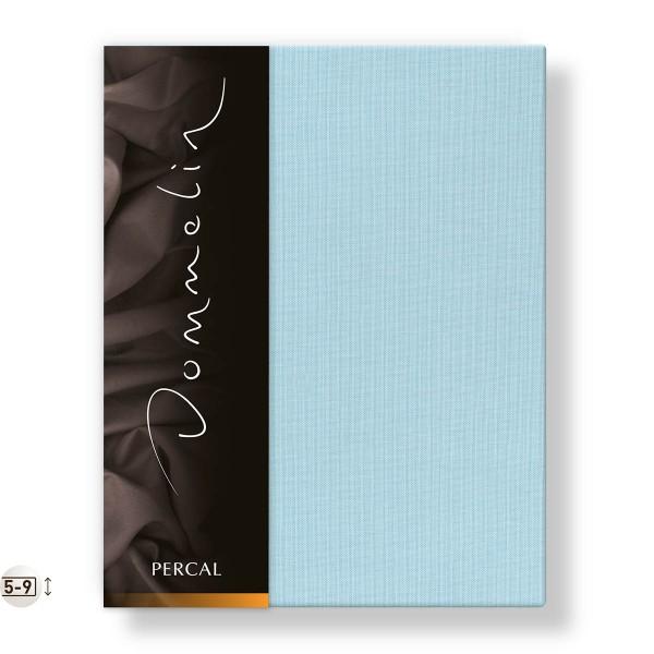 Dommelin Topper Hoeslaken Deluxe Percal Pastelblauw 100 x 200 cm
