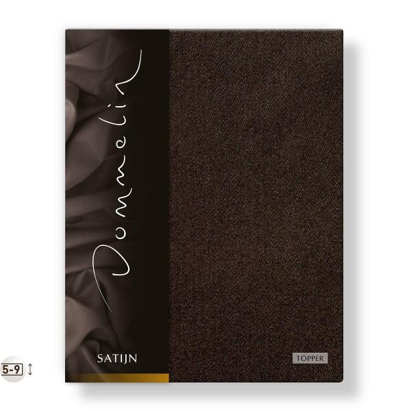 Dommelin Topper Hoeslaken Deluxe Satijn Choco 90 x 200 cm