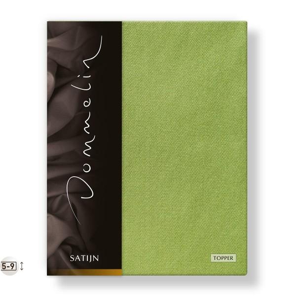 Dommelin Topper Hoeslaken Deluxe Satijn Groen 100 x 210 cm
