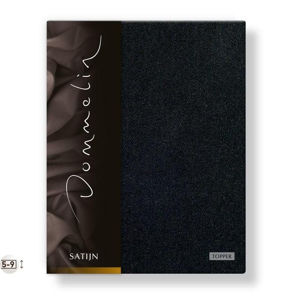 Dommelin Topper Hoeslaken Deluxe Satijn Zwart 100 x 210 cm