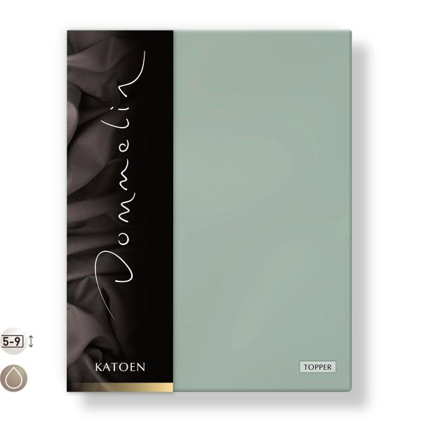 Dommelin Topper Hoeslaken Katoen Mint 100 x 200 cm