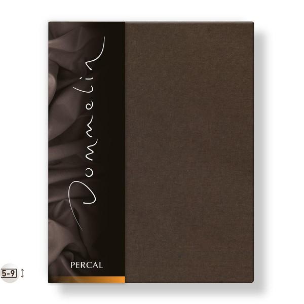 Dommelin Topper Hoeslaken Deluxe Percal Choco