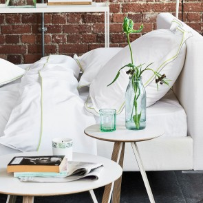 Designers Guild Dekbedovertrek Astor Pale Grey & Lime
